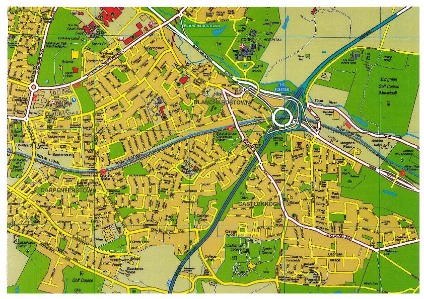Map Of Castleknock
